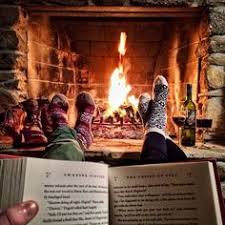 Bildresultat för animated gif fireplace and reading books