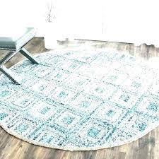 7 round jute rug 4 6 cape cod handmade natural blue fiber x outdoor 6x9