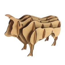 yak 3d puzzle bull model paper craft kids diy cardboard animal toys educational children papercraft art creative gifts in puzzles from toys hobbies