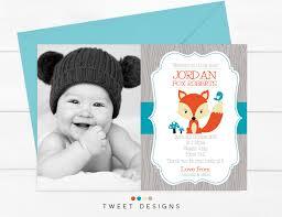 Baby Boy Thank You Cards Fox Baby Birth Announcement Printable Birth Announcement Baby Boy