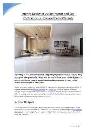 Interior Designer And Contractor Near Me Interior Designer Vs Contractor And Sub Contractors How