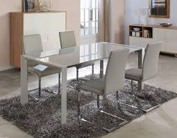 to five white glass white glass dining table on round glass dining table
