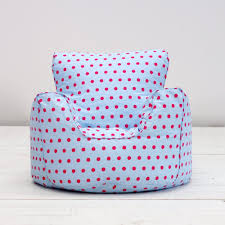 Childrens Kids Girls Cotton Blue Pink Spots Butterfly Chair Seat Bean Bag  Filled: Amazon.co.uk: Kitchen & Home