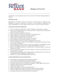 Loan Processor Resume Loan Processor Resume Samples Resume