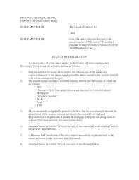 Best Photos Of Letter Of Declaration Template Declaration Letter