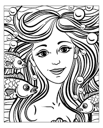 Small Picture Mermaid by natuskadpi Water worlds Coloring pages for adults