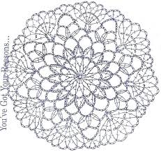 Crochet Pattern Crochet Doily Diagram Crochet Mandala