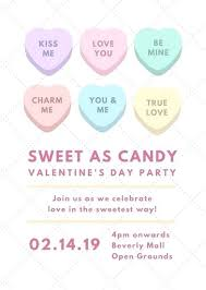 Free Editable Flyer Templates Editable Flyer Templates Sweet As Candy Valentines Day Party Flyer