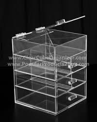 image is loading acrylic clear cube makeup organizer w drawers display