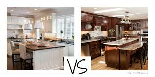 Medium Oak Kitchen Cabinets White Versus Wood Kitchen Cabinets Capid