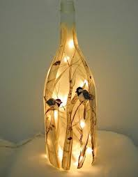 decorated wine bottle lights without drilling 11