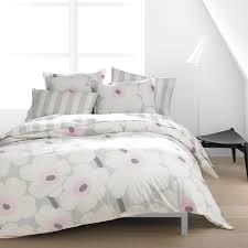 prissy design pink and grey duvet cover marimekko unikko set king uk nz single