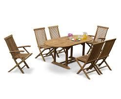 brompton bijou extending 1 2 1 8m table 6 ashdown folding chairs