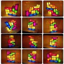 Buy Tetris Light Diy Tetris Lamp Building Blocks Combination Three Dimensional Puzzle Charging Night Light Puzzle Jigsaw Table Lamp Usb Light