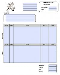 Electrical Invoice Template Free Free Electrician Invoice Template Excel PDF Word doc 23