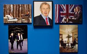 handout image a close up look of a painting of tony blair painted by