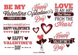 valentine s day label set