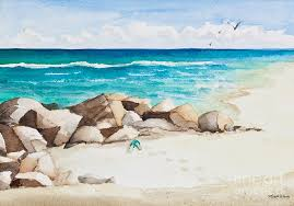 beach painting boynton beach inlet watercolor by mice wiarda constantine