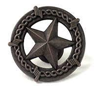 western cabinet hardware. Oil Rubbed Bronze - Ornamental Star Knob In Wild Western Hardware LL953-BRN Cabinet O