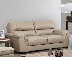 leather sofa in beige color esfs
