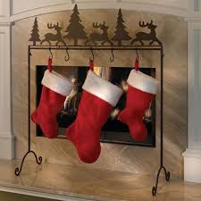Christmas-stocking-holder-stand-wrough-iron-stand-fireplace-