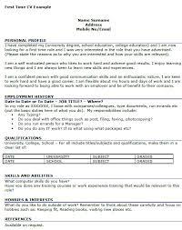 C V Sample For First Job Resume By Nfm Cv Basic Visualize More