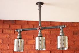 industrial bar lighting. This Flush-mounted Industrial Light Fixture Is Made With Heavy  Pipes And Bar Lighting H