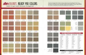 Concrete Stain Chart Solomon Dry Integral Color