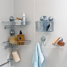 bathroom: Perfect Bathroom With Towel Holder And Cool Stainless Hanging Racks  Storage For Saving Sponge