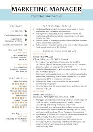 What Is Needed For A Modern Resume Marketing Manager Resume Example Writing Tips Rg