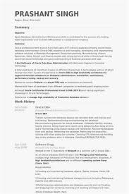 Oracle Dba Resume Format Template Oracle Dba Resume Example Examples