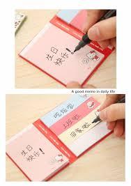 48 Pcs Lot Cartoon Sticky Notes Folding Post It Memo Pad Kawaii