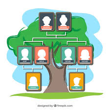 Family Tree Picture Template Colored Family Tree Template Vector Free Download
