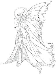 Fairy Coloring Pages Printable Evil Fairy Coloring Pages For Easy