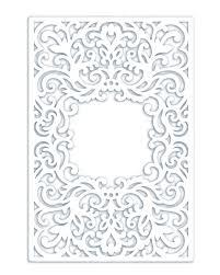 Half Fold Card Template Wedding Invitation Pocket Frame Envelope Half Fold Card 5x7 Svg