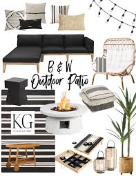 black and white outdoor patio furniture