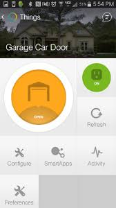 smartthings garage door opener photos wall and
