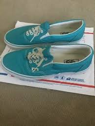 Fake Vans Details About Rare Vans Donny Miller Slip On Authentic Fake Printed Laces Used 9 5 Turquoise
