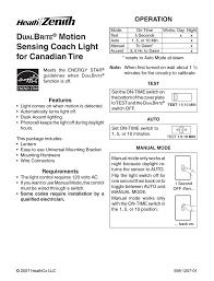 Heath Zenith Motion Sensor Light Stays On Heath Zenith Motion Sensing Coach Lights User Manual