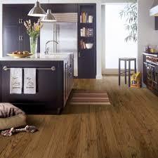 Engineered Hardwood Flooring In Kitchen Bruce Distressed Oak Gunstock 3 8 In Thick X 5 In Wide Random