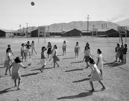 farewell to manzanar writework ese american women playing volleyball manzanar internment camp california ca 1943