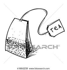 tea bag clipart. Fine Bag Clip Art  Tea Bag With Label Fotosearch Search Clipart Illustration  Posters On Bag Clipart