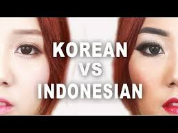 korean vs indonesian makeup makeup tutorial