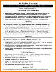 Programmer Resume Sample Computer Programmer Resume Example Examples of Resumes 64