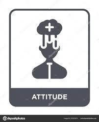 Attitude Design Attitude Icon Trendy Design Style Attitude Icon Isolated