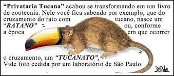 Resultado de imagem para charge rato cucano psdb