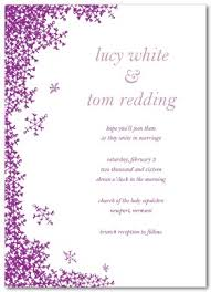 Wedding Invitations Templates Purple Printable Snow Wedding Invitation Template
