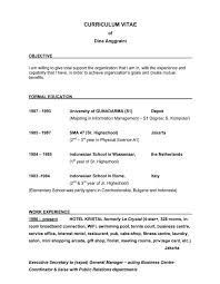 Example Objective Statement For Resume Resume Sample Source