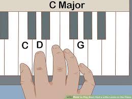 Mary Had A Little Lamb Flute Finger Chart 3 Ways To Play Mary Had A Little Lamb On The Piano Wikihow