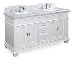 60 inch double sink vanity. elizabeth 60-inch double bathroom vanity (carrara/white): includes white cabinet 60 inch sink